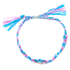 Pastel Woven Heart Adjustable Bracelet,