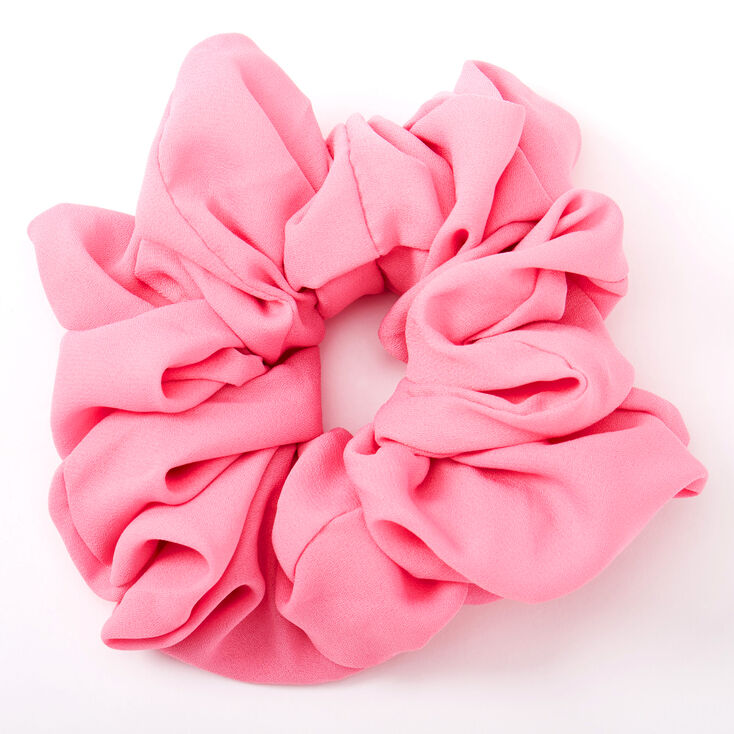 Giant Hair Scrunchie - Candy Pink,