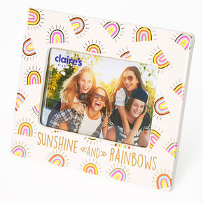 Sunshine and Rainbows Photo Frame - White,
