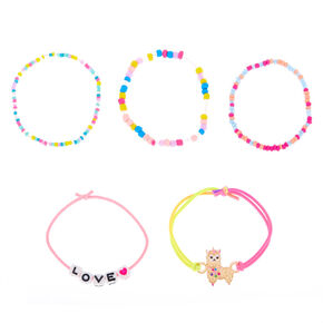 Llamacorn Beaded Bracelets - 5 Pack,