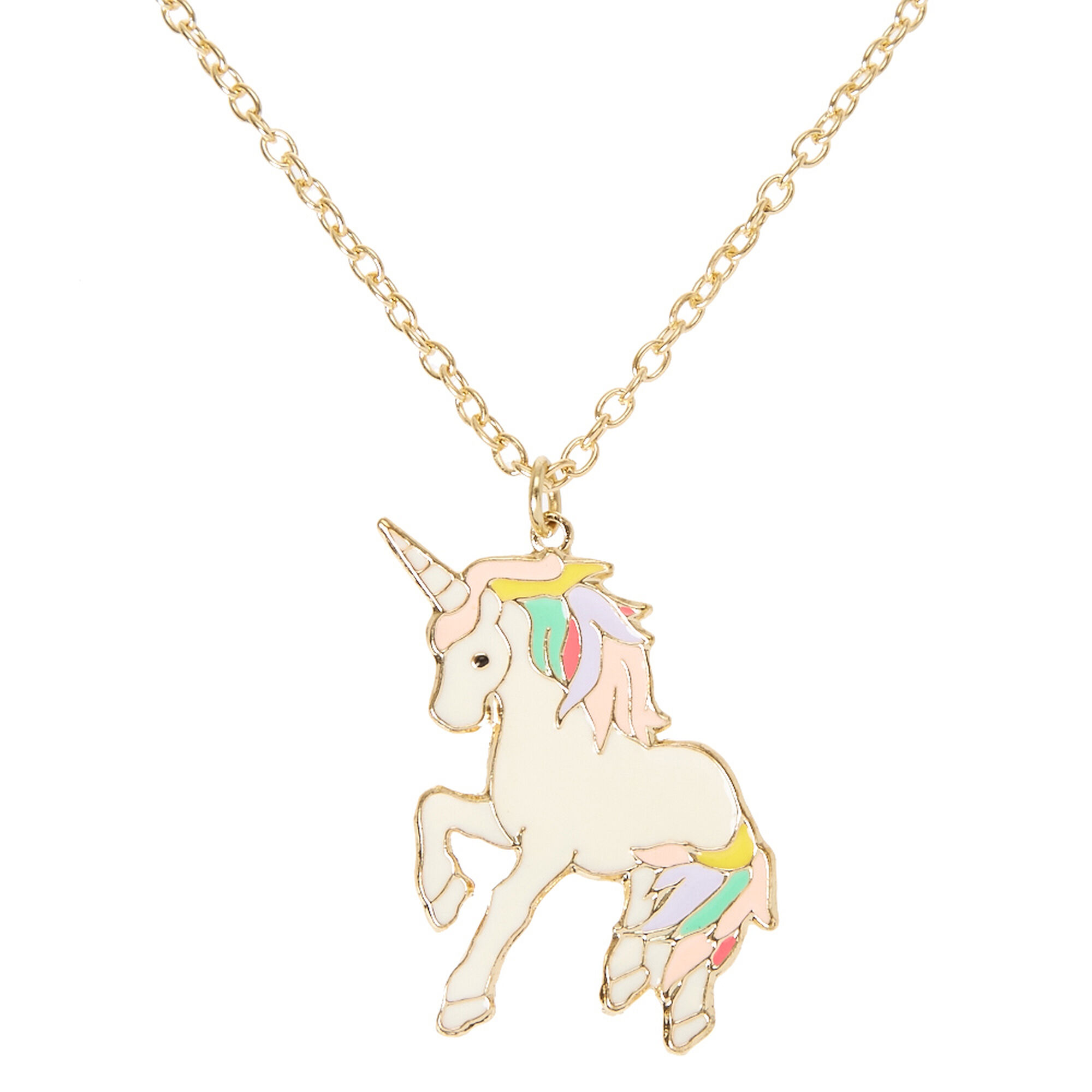 p htm necklace cnr silver sterling unicorn