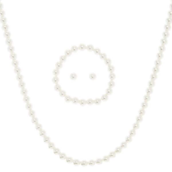 Claire's - 3 pc faux pearl jewelry set - 1