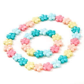 Claire's Club Pastel Daisy Jewelry Set - 2 Pack,