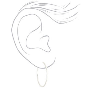 Silver Graduated Mixed Earrings - 9 Pack,