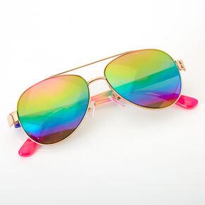 Claire's Club Rainbow Aviator Sunglasses,