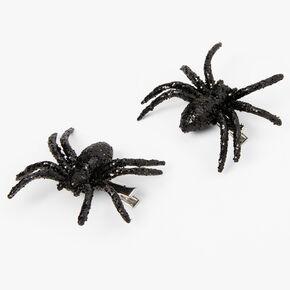 Barrettes à nœud araignée à sequins - Noir, lot de 2,