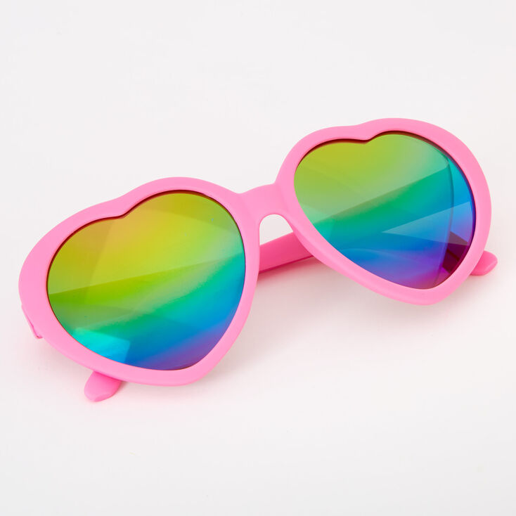 Claire's Club Heart Sunglasses - Pink,