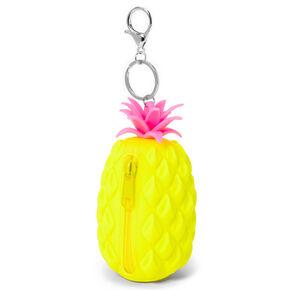 Porte-clés porte-monnaie silicone ananas - Jaune,