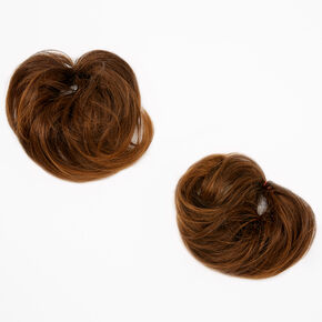 Straight Faux Hair Bobbles - Brown, 2 Pack,