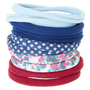 Floral & Polka Dot Rolled Hair Bobbles,