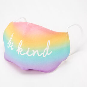 Cotton Be Kind Rainbow Face Mask - Adult,