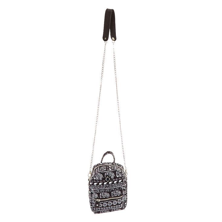 Mini sac à bandoulière à motifs d'éléphant aztèque,