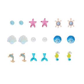 Under The Sea Stud Earrings - 9 Pack,