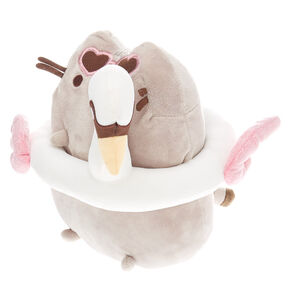Pusheen® Swan Floatie Medium Plush Toy – Grey,