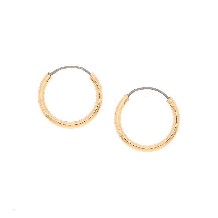 Gold 10MM Hoop Earrings,