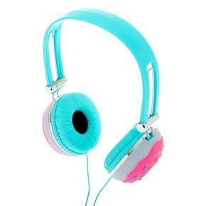 Glitter Donut Headphones - Turquoise,