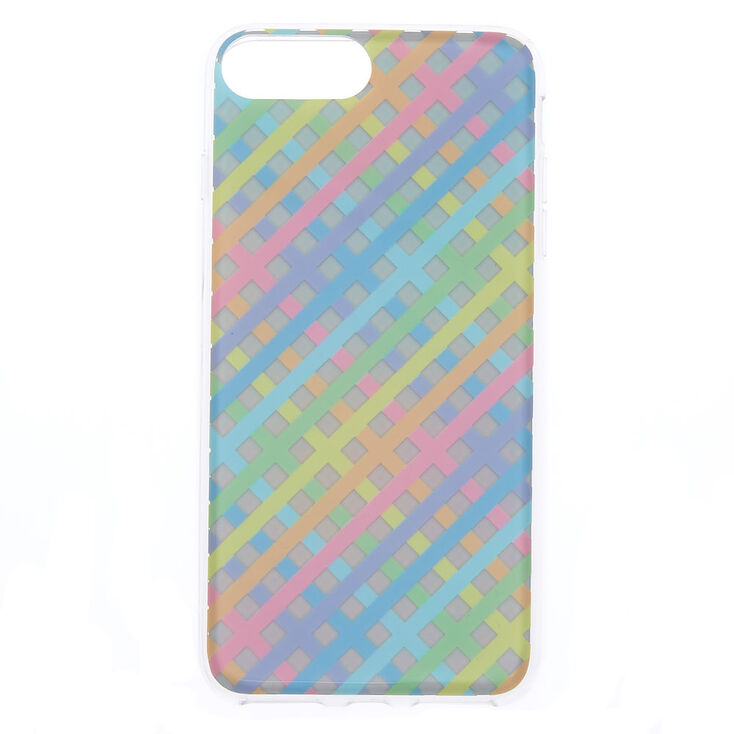 the latest 07dff 213b0 Pastel Chequered Holographic Phone Case - Fits iPhone 6/7/8