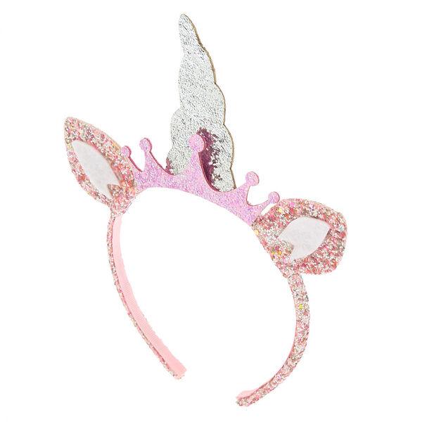 Claire's - club glitter unicorn headband - 1