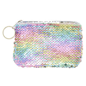 Reversible Sequin Rainbow Pastel Coin Purse,