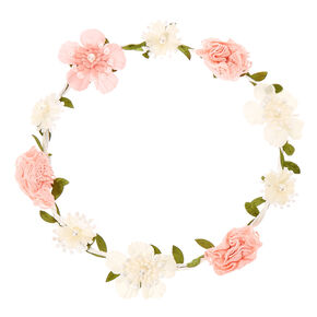 Headbands et couronnes de fleurs pour coiffure claires fr couronne de fleurs en crochet rose et blanc pour enfants altavistaventures Choice Image