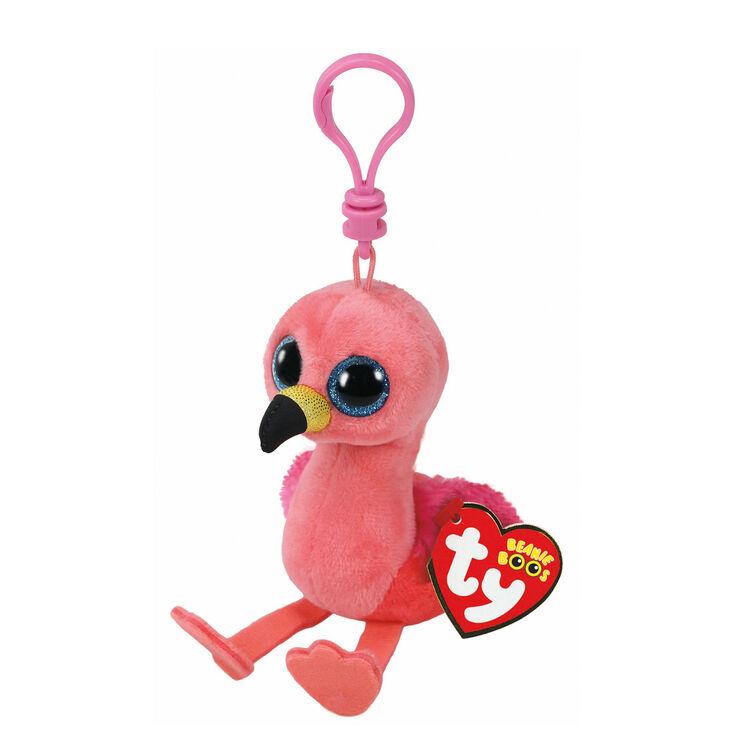 Ty Beanie Boo Gilda the Flamingo Keyring Clip  7f844eecaa16