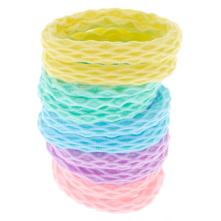 Claire's Club Pastel Honeycomb Hair Bobbles - 10 Pack,