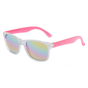 Claire s Club Tinted Holographic Sunglasses - Pink ce9209f52
