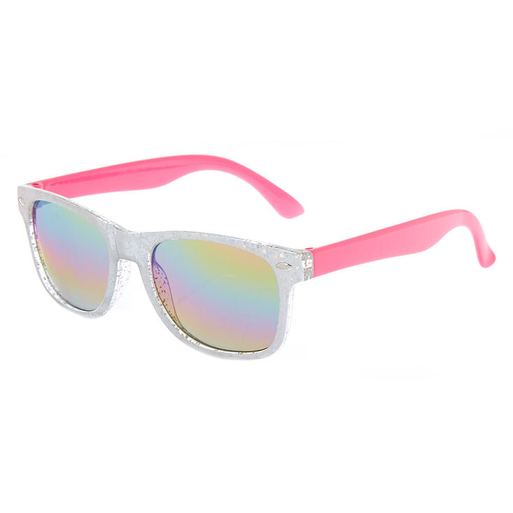 9a2f436b44 Claire s Club Tinted Holographic Sunglasses - Pink
