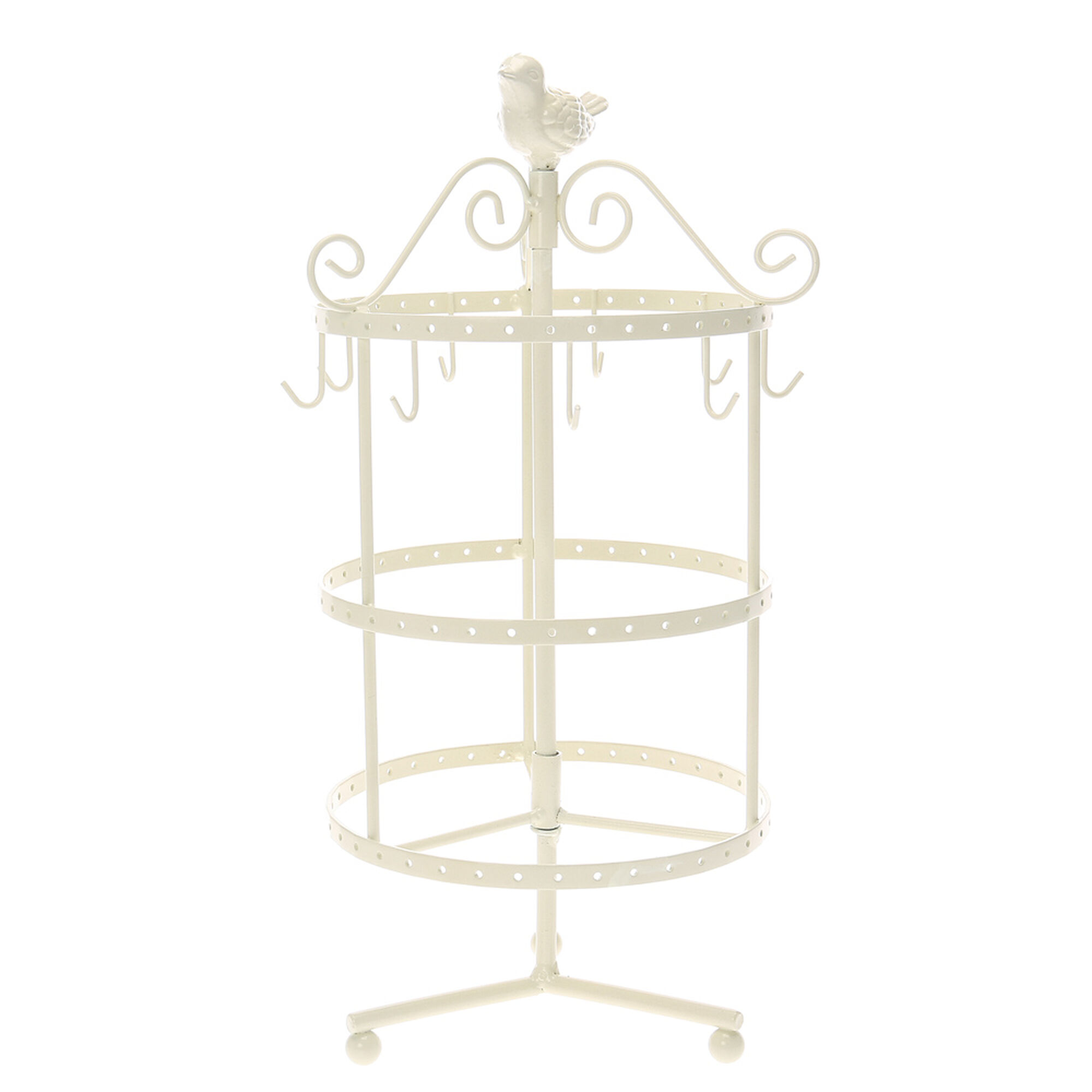 cream bird spinning jewelry stand claire 39 s us. Black Bedroom Furniture Sets. Home Design Ideas
