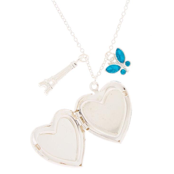 Spring Romance Locket Pendant Necklace - Blue,