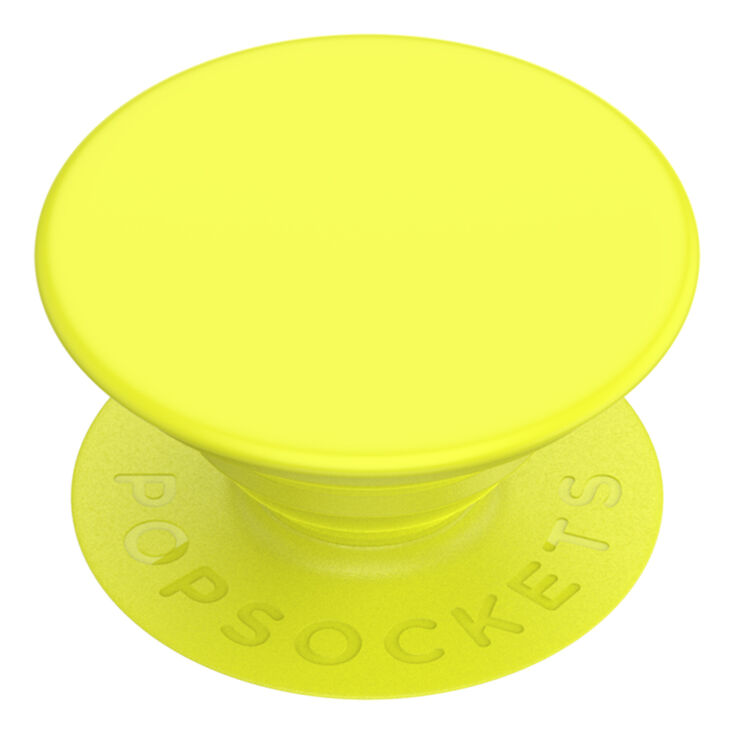 PopSockets Swappable PopGrip - Neon Jolt Yellow,