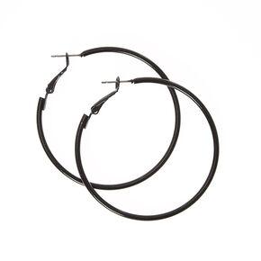 50MM Hoop Earrings - Black,