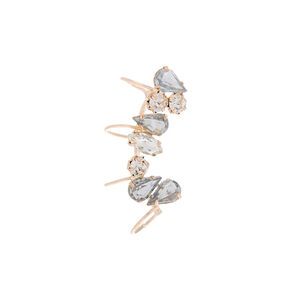 "Rose Gold 1"" Crystal Ear Cuff Earring,"