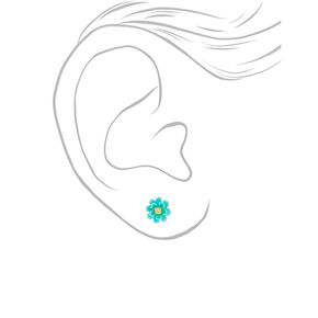 Rainbow Flower Stud Earrings - 9 Pack,