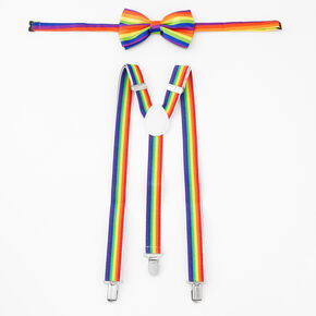 Rainbow Suspenders & Bowtie Set - 2 Pack,