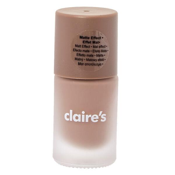 Claire's - mattenude nail polish - 1