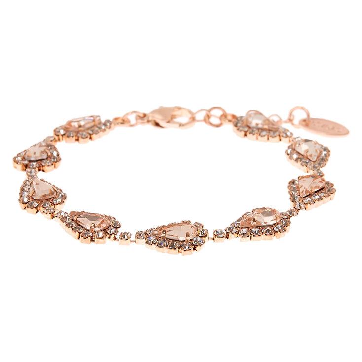 Rose Gold Teardrop Jewellery Set - 3 Pack,