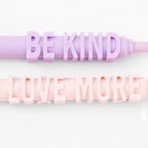 Glittery Positive Messages Pastel Pen Set - 2 Pack,