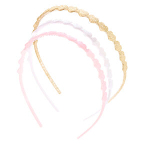 Claire's Club Glitter Hearts Headbands - 3 Pack,