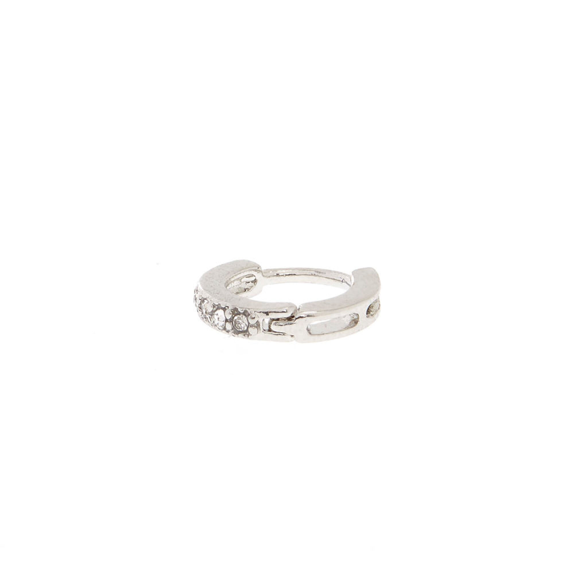 d en hoops rings in listing button sterling this diamond cartilage item belly cut silver shaped il like