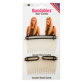 LocALoc® Bandables Hair Combs - Clear, 2 Pack,