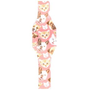 Pink Cat LED Blink Watch,