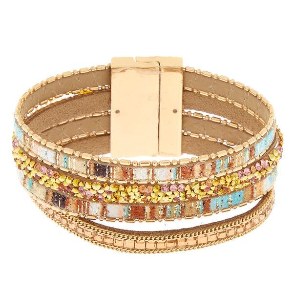 Claire's - desert layered wrap bracelet - 1