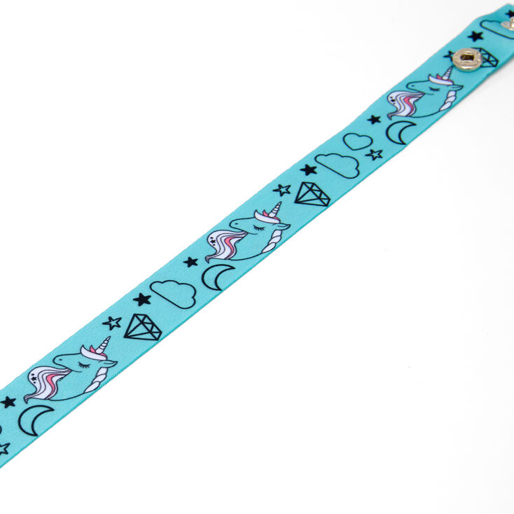 Unicorn Face Mask Lanyard - Blue,