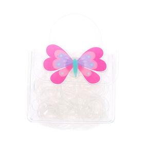 Claire's Club Clear Hair Bobbles & Bag,