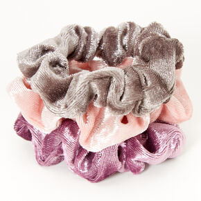 Claire's Club Small Velvet Dusty Purples Hair Scrunchies - 3 Pack,