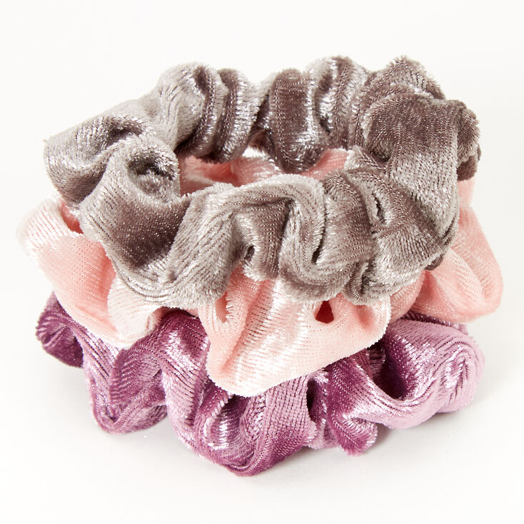 Petits chouchous violet vintage en imitation velours Claire'sClub - Lot de 3,