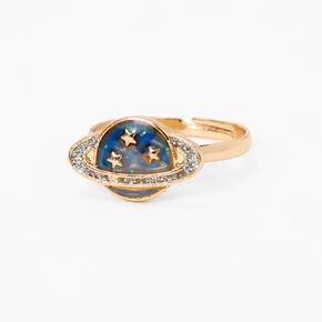 Glitter Planet Mood Ring - Gold,