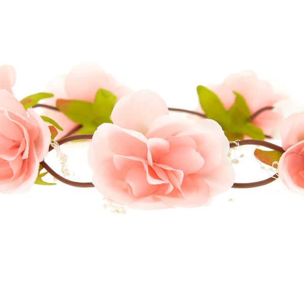 Claire's - blush rose baby breath tie headwrap - 2
