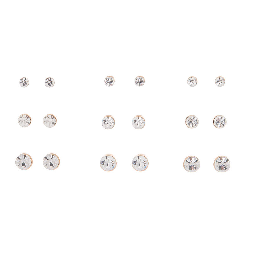 Claires Girls Small Crystal Magnetic Stud Earrings Claire S